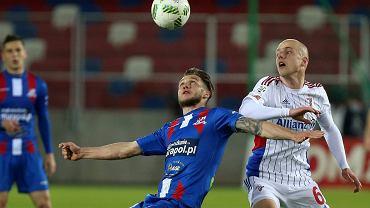 Mateusz Szczepaniak w meczu z Podbeskidziem