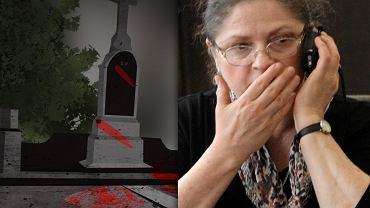 Grób rodziców Krystyny Pawłowicz zaatakowany czerwoną farbą