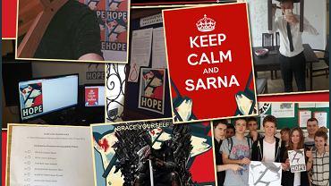 Zdjęcia fanów Sarny z krzesłem na głowie