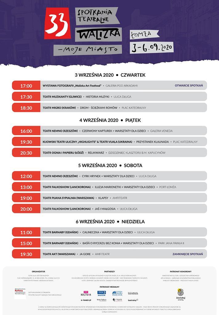 Program Spotkań Teatralnych ' Walizka' w Łomży 2020