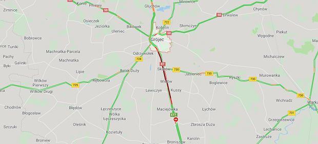 Wypadek na S7 w pobliżu miejscowości Grójec (zdjęcie ilustracyjne)
