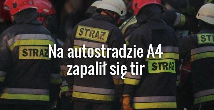 Strażacy podczas akcji ratunkowej