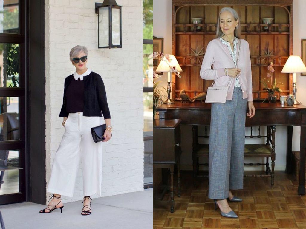 Eleganckie szerokie spodnie dla kobiet po 50-tce