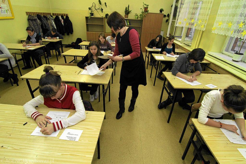 Nauczycielka w szkole