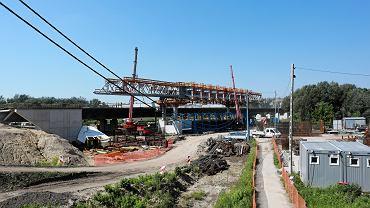 Budowa mostu Południowego w Warszawie