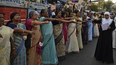 Ściana kobiet w Indiach miała 620 km