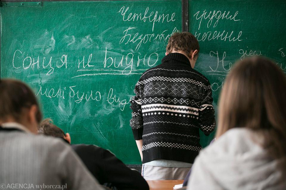 Lekcja języka rosyjskiego na Ukrainie