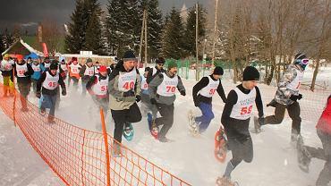 I otwarte mistrzostwa Polski w biegu na rakietach śnieżnych RAKIETNA w 2012 r.