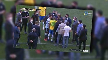 Brazylijscy i Argentyńscy piłkarze wykłócający się z sanepidem. Eliminacje MŚ 2022