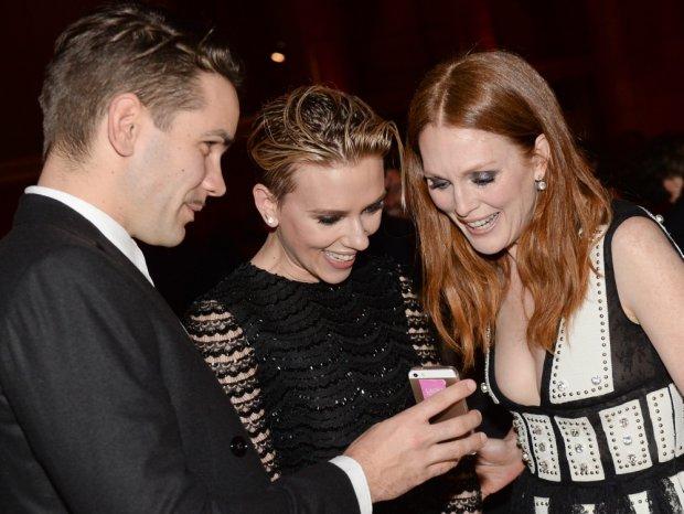 Romain Dauriac z Scarlett Johansson oraz Jullianne Moore