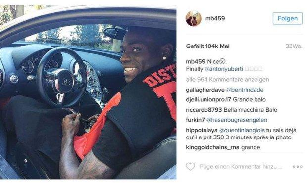 Instagram Mario Balotelli
