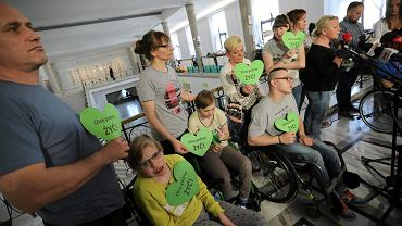 22. dzień protestu rodziców dzieci niepełnosprawnych w Sejmie, 09.05.2018