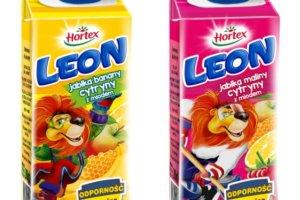 Nowe nektary Hortex Leon Odporność z miodem i witaminą C w wygodnych kartonikach z zakrętką