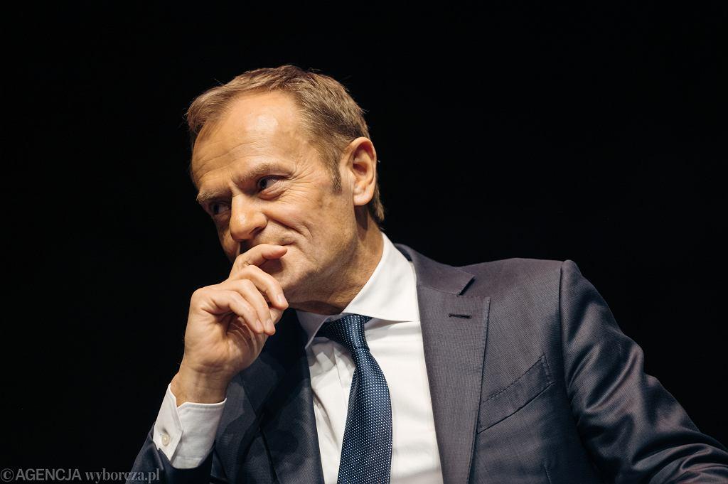 Donald Tusk, szef PO