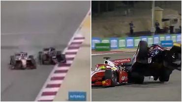 Mick Schumacher zderzył się z Royem Nissanym w kwalifikacjach Formuły 2 do GP Bahrajnu