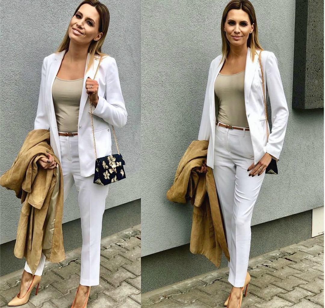 Agnieszka Hyży w białym garniturze - hit wiosny 2019!