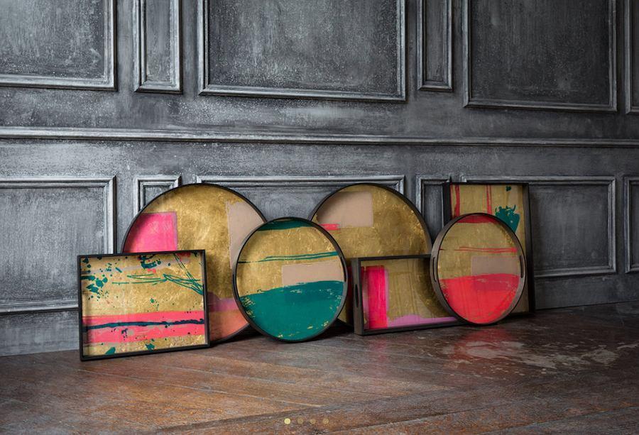 Kolorowe tace dekoracyjne Notre Monde