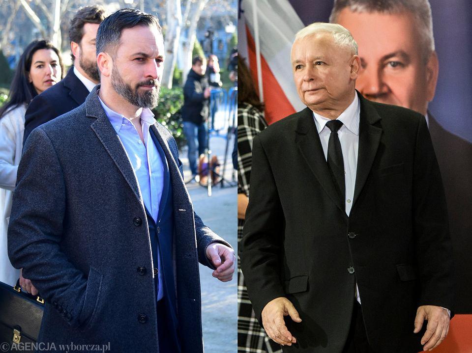 Santiago Abascal i Jarosław Kaczyński