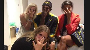 Usain Bolt i jego koleżanki
