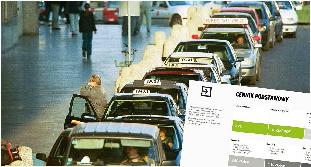 Cennik Sawa Taxi i taksówki pod Dworcem Centralnym