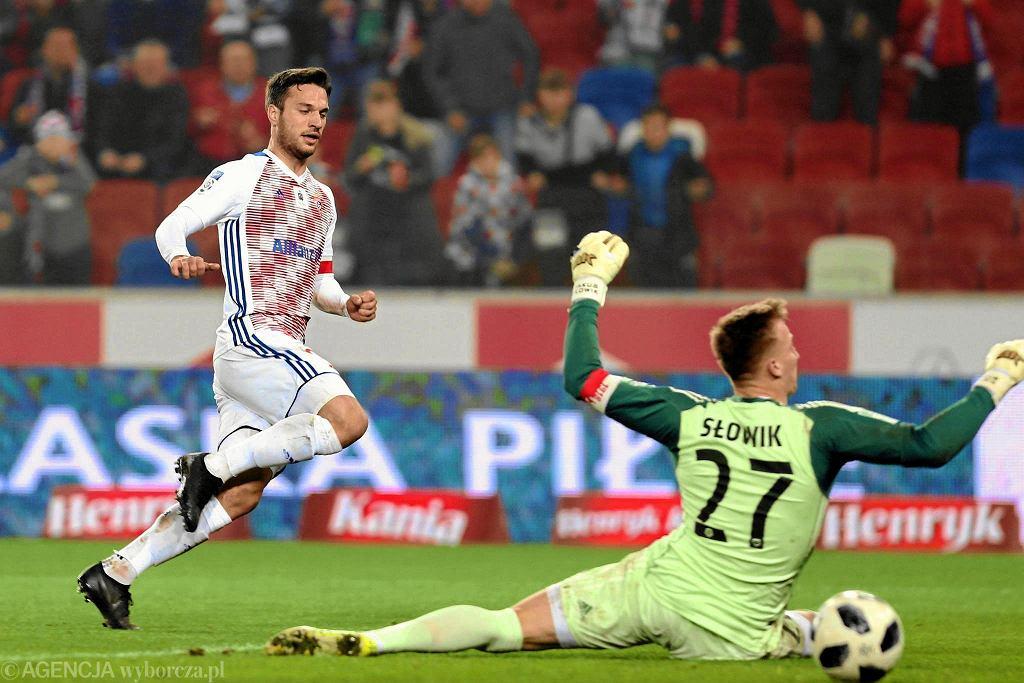 Jesus Jimenez w meczu ze Śląskiem Wrocław