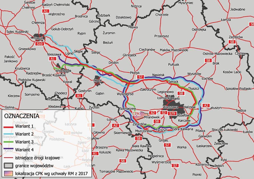 Centralny Port Komunikacyjny - drogi, jak dojechać, plany