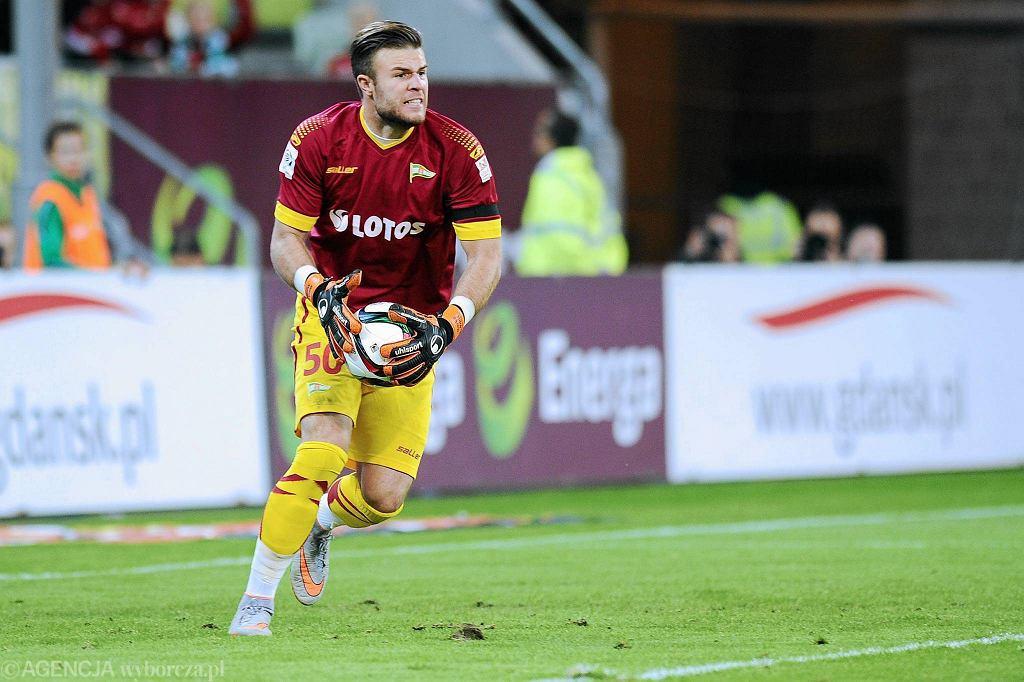 Lechia Gdańsk - Pogoń Szczecin 1:1. Bramkarz Lechii Marko Marić