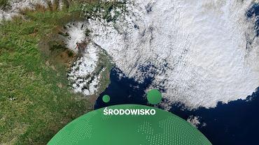 Zdjęcia satelitarne wybuchającej Etny w lutym 2021 roku