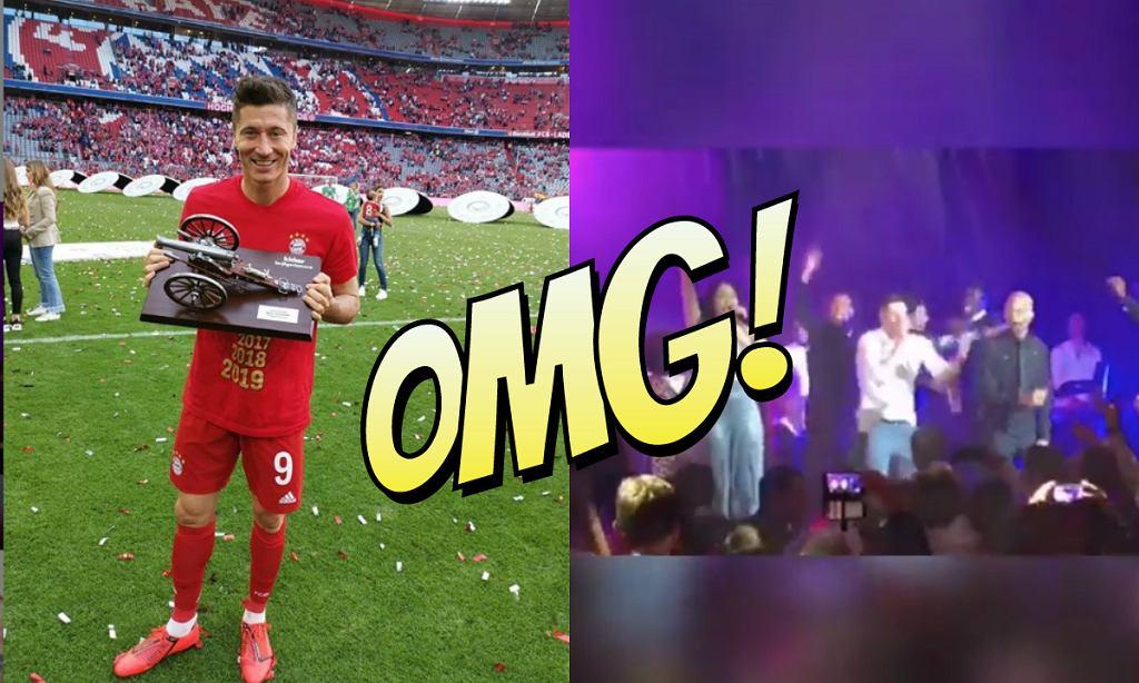 Robert Lewandowski śpiewa i tańczy na imprezie Bayernu Monachium [WIDEO]