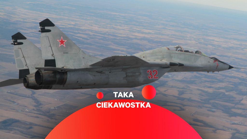 MiG-29 w malowaniu udającym rosyjskie należący do firmy Air USA