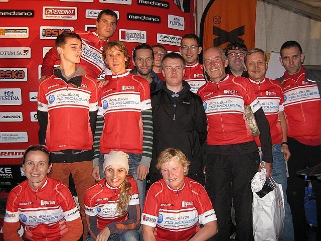 Trzecie miejsce w klasyfikacji drużynowej dla drużyny Polski na Rowery