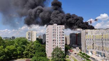 Czarny dym w okolicy warszawskiego 'Mordoru'