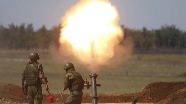 Ćwiczenia rosyjskich żołnierzy podczas manewrów International Army Games