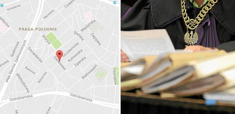Działka Darłowska, na której jest działka, o którą walczy Kruk, jest na warszawskiej Pradze