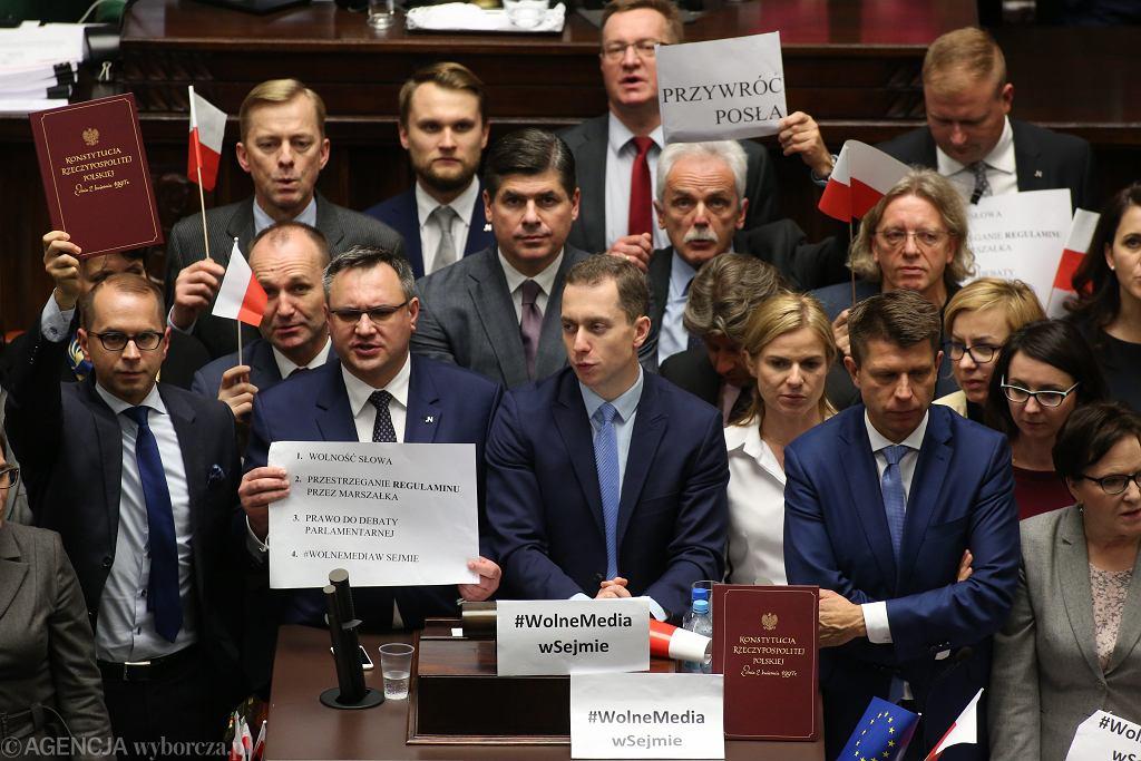 Protest w Sejmie w 2016 roku