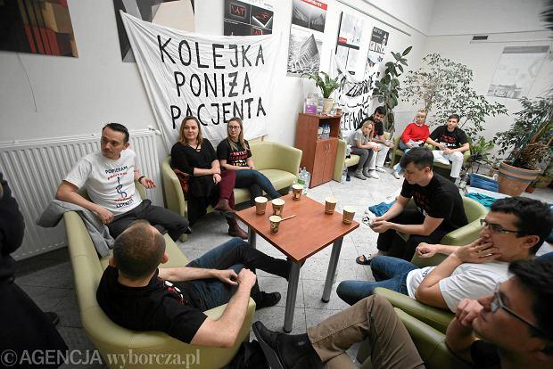 18 października. Protest głodowy lekarzy rezydentów