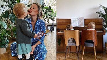 Córka Olgi Frycz gra na pianinie, a internautki dopytują, dlaczego Helenka ma dwa nazwiska. Aktorka odpowiedziała