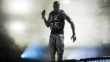 Występ rapera Stormzy podczas festiwalu Glastonbury.