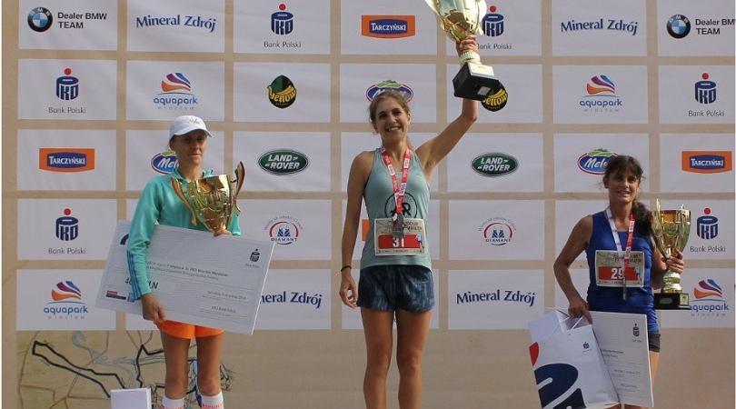 Antonina Biała, pierwsza Polka podczas Wrocław Maratonu.