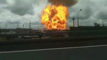 Pożar elektrowni pod Moskwą