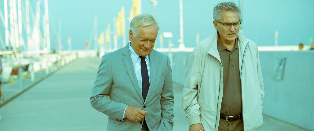 Andrzej Seweryn i Olgierd Łukaszewicz w filmie 'Solid Gold'
