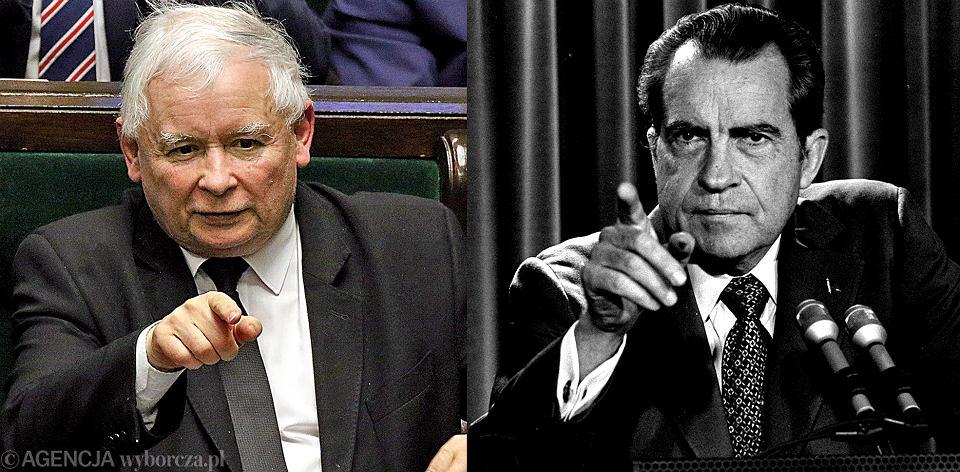 Jarosław Kaczyński i Richard Nixon
