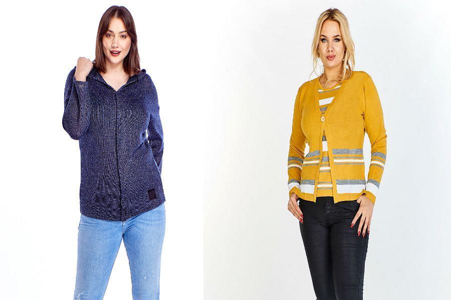 Swetry damskie rozpinane duże rozmiary