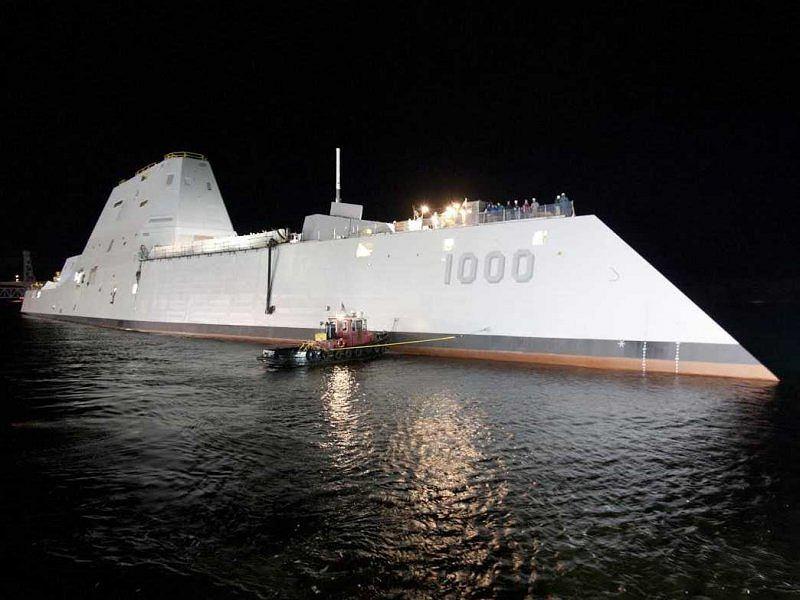 USS Zumwalt zwodowany