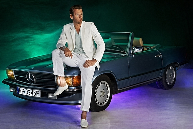 Mateusz Kusznierewicz w reklamie Mercedesa