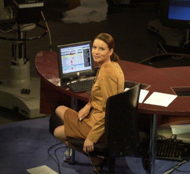 Anita Werner w 2001 roku w studio TVN