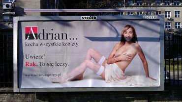 Billboard firmy Adrian przy ul. Chełmskiej w Warszawie