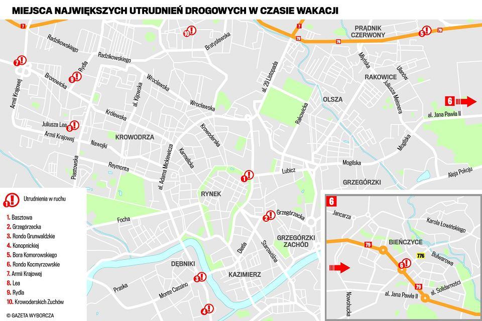 Remonty W Krakowie Gdzie Kiedy I Co Rozkopia Mapa