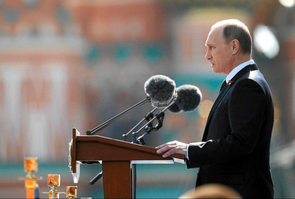 Władimir Putin podczas rocznicy Dnia zwycięstwa