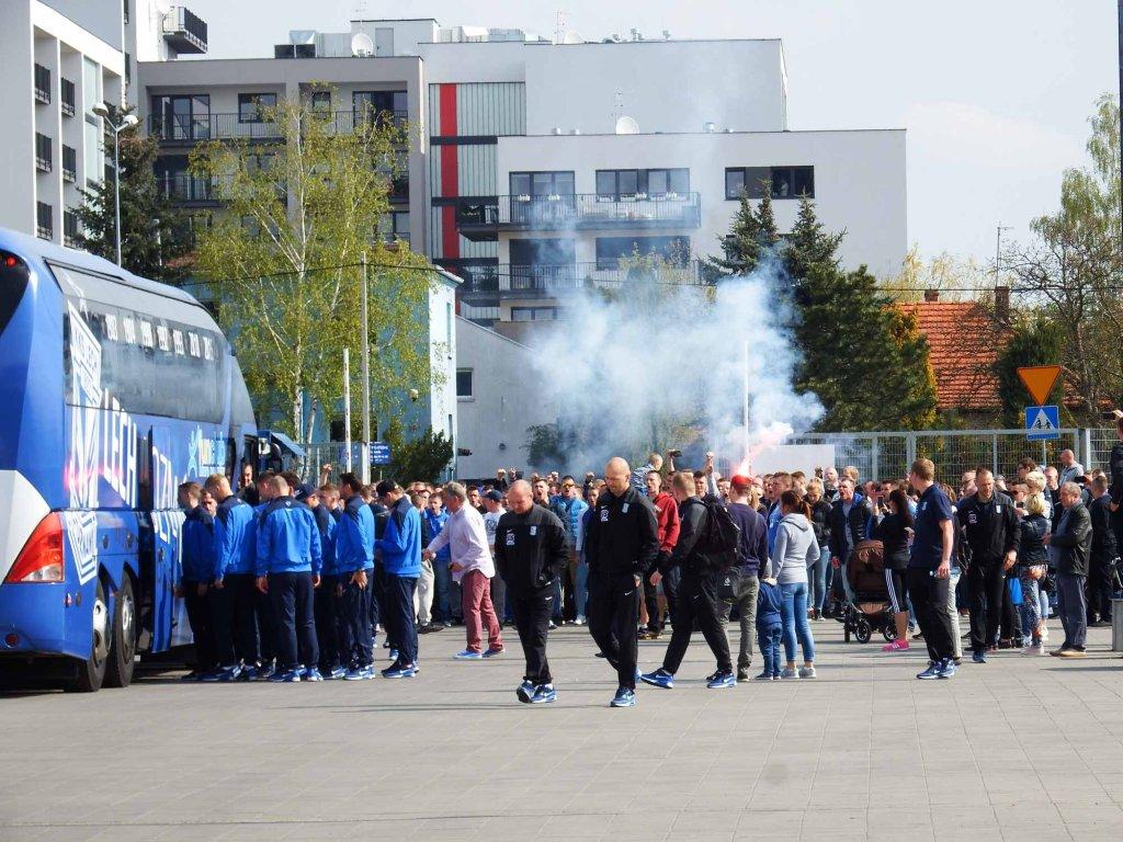 Przed wyjazdem piłkarzy Lecha Poznań na finał Pucharu Polski